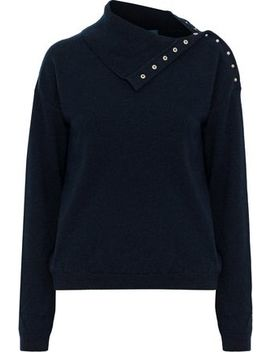 Woodman Snap Detailed Cashmere Sweater by M.I.H Jeans