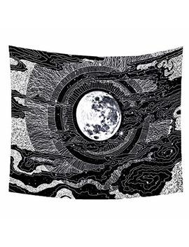 "Sandeye Tapestry Wall Hanging Psychedelic Small Wall Tapestry Hippie Bohemian Magical Mysterious Indian Wall For Bedroom Living Room Dorm Decor (7# Moon, L/59.1""X78.7"") by Sandeye"
