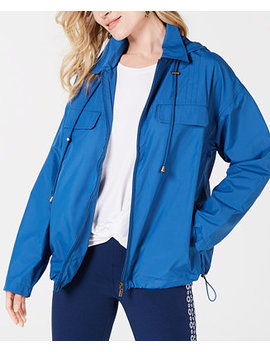 Cropped Water Resistant Anorak Jacket, Created For Macy's by Style & Co