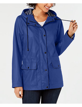 Hooded Raincoat, Created For Macy's by Charter Club
