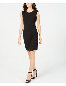 Petite Ruched Sheath Dress by Calvin Klein