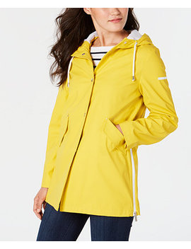 Hooded Zip Slit Raincoat by French Connection