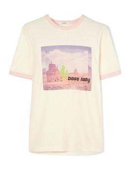 Ranger Printed Jersey T Shirt by Ganni