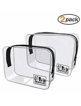 Easyfun Tsa Approved Travel Toiletry Bag Clear Pvc Toiletry Bag by Easyfun