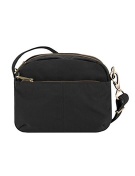 Travelon Anti Theft Signature E/W Shoulder Bag, Black by Travelon