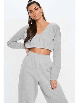 Gray Extreme Cropped Hoodie by Missguided