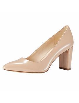 Jenn Ardor Chunky Thick Heel Pumps Pointed Closed Toe Office Dress Lady High Heel Shoes by Jenn Ardor