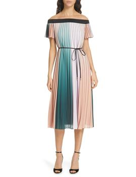 Fernee Colorblock Pleated Dress by Ted Baker London