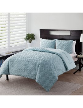 Nina Geometric Embossed Comforter Set By Vcny Home by Vcny