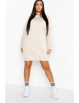 Plus Basic Sweat Dress by Boohoo