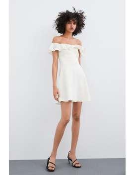 KrÓtka Sukienka Z FalbankĄ  Zobacz Więcej Sukienki Kobieta by Zara