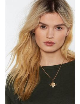All In Sovereign Pendant Necklace by Nasty Gal