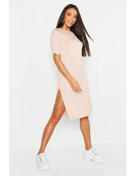 Split Midi T Shirt Dress by Boohoo