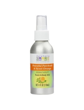 Aura Cacia Aromatherapy Room & Women's Body Mist   Peaceful Patchouli & Sweet Orange   4oz by Aura Cacia