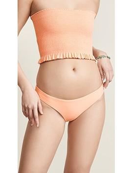 Papaya Basic Ruched Full Bikini Bottoms by Pily Q