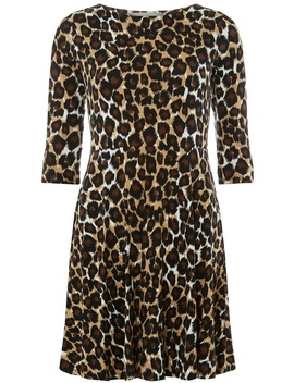 Petite Leopard Print Fit And Flare Dress by Dorothy Perkins