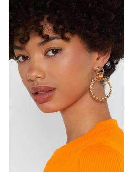 Knot Finished With You Hoop Earrings by Nasty Gal