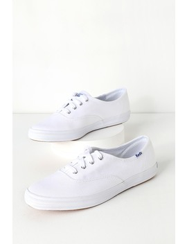 Champion White Canvas Sneakers by Keds