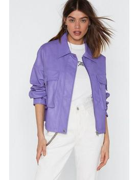 Oversize To The Occassion Faux Leather Jacket by Nasty Gal