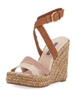 Elsie Tricolor Espadrille Wedge Sandals by Stuart Weitzman