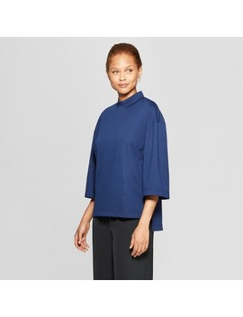 Women's 3/4 Flare Sleeve Mock Neck T Shirt   Prologue™ by Prologue