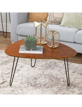 Walnut Hairpin Leg Wood Coffee Table by Pier1 Imports