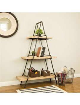 Farmhouse 3 Tier Wood & Metal Shelf by Pier1 Imports