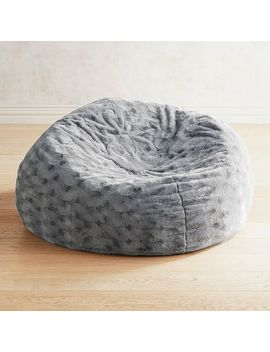 Fuzzy Charcoal Bean Bag by Pier1 Imports