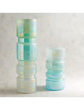 Green Ombre Luster Vases by Pier1 Imports