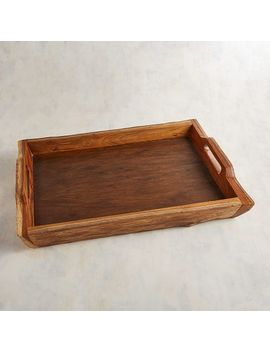 Natural Teak Tray by Pier1 Imports