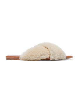 Shearling Slides by Rosetta Getty