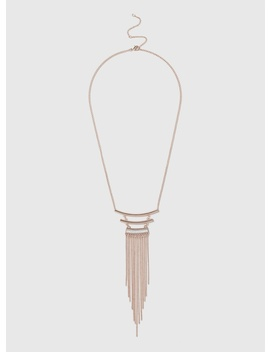 Glitter Bar Tassel Necklace by Dorothy Perkins