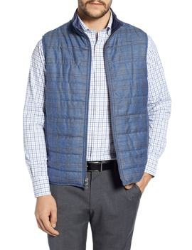 Springtime Countryside Quilted Wool Vest by Peter Millar