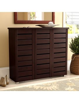 20 Pair Slatted Shoe Storage Cabinet by Darby Home Co