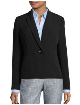 Seam Front Solid Blazer by Kasper Suits
