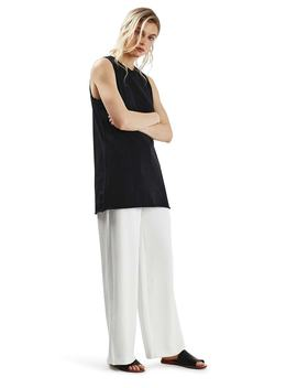 Longline Nibbled Tank by Topshop