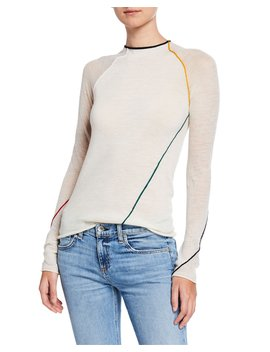 Lydia Alpaca Blend Crewneck Top W/ Seams by Rag & Bone