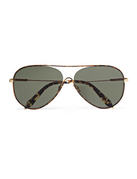 Loop Aviator Style Tortoiseshell Acetate And Gold Tone Sunglasses by Victoria Beckham