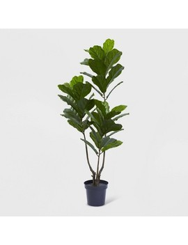 "65"" Fiddle Leaf Tree Uv Resistant   Nearly Natural by Nearly Natural"