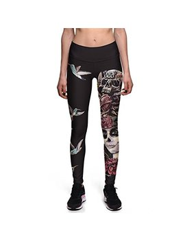 Fanii Quare Women's High Waist Ankle Leggings Digital Print Skinny Active Yoga Pants by Fanii Quare