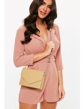 Nude Clean Cross Body Bag by Missguided