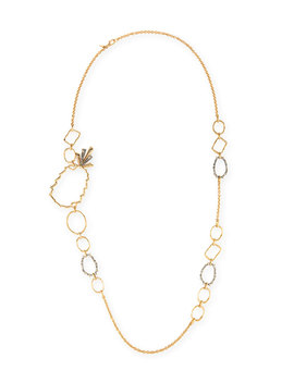 Pineapple Link Necklace W/ Crystals by Alexis Bittar