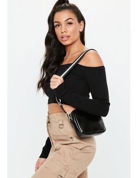 Black Stripe Strap Cross Body Bag by Missguided