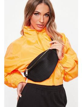 Black Net Bumbag by Missguided