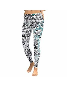 Chitop Sexy Pencil Pants Halloween Jack Skellington  Nightmare Before Christmas  Prints Slim Fitness Workout Push Up Women Leggings (Kdk1741) (M) by Chitop