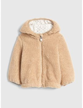 Foil Dot Sherpa Hoodie Jacket by Gap