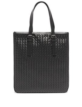 Intrecciato Leather Tote Bag by Bottega Veneta