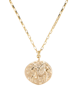 Unicorn Coin Pendant Necklace by Shashi
