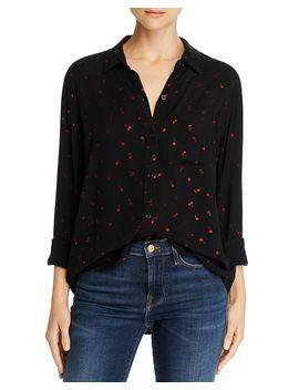 Rocsi Metallic Cherry Print Shirt by Rails