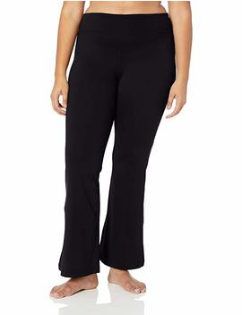 "Core 10 Women's Spectrum Medium Waist Wide Flare Yoga Bootcut Pant   32"" (Xs Xl, Plus 1 X 3 X) by Core 10"